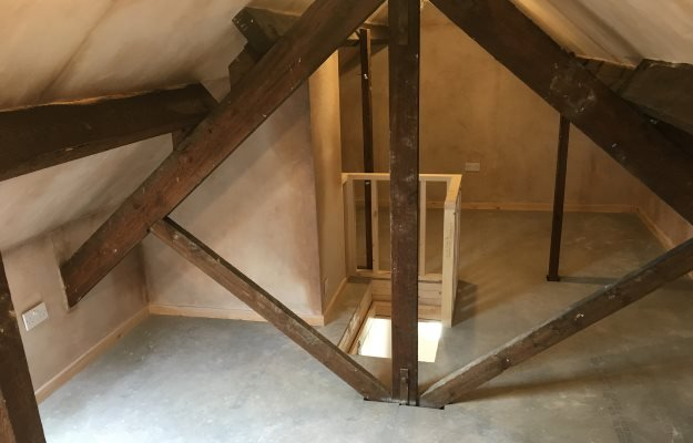 Clean loft storage rooms