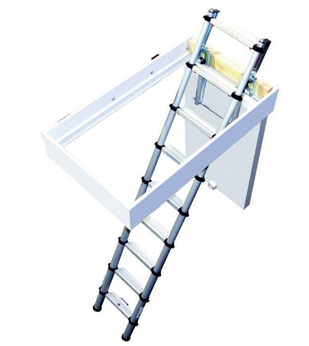 Youngman aluminium telescopic loft ladder